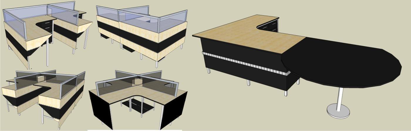 Meja Kerja Minimalis asli bikinan 'M' Interior